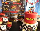 Digital or Printed | Mickey Roadster Racers Chalkboard Sign | Birthday Party | Customizable