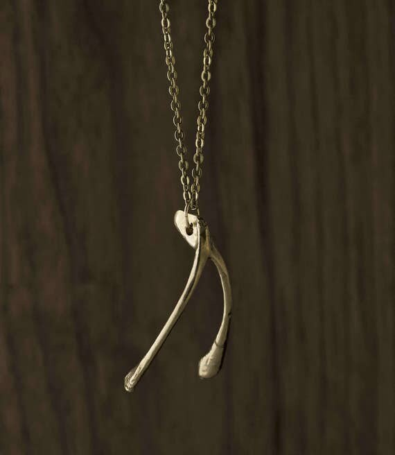 Wishbone Necklace - Kitchen Wisdom & Good Luck - Unique, Gift, Cook, Culinary, Natural, Lucky Break, Good Fortune, Thanksgiving, Chef