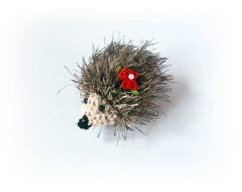 Crochet hedgehog Crochet toys Brown hedgehog Plush Gift for her for kids Stuff Crochet toy Amigurumi Animal Amigurumi Crochet toys