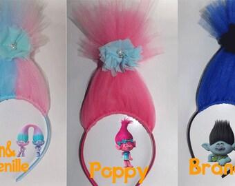 Troll Head, Troll Inspired Headband  Hair Accessories, Headbands