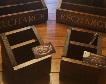 Single Rustic Charging Station