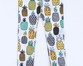 Leggings - Newborn Boy Leggings - Pineapple Printed Pants - Toddler Boy Leggings - Trendy Baby Gift - Baby Boy Clothes