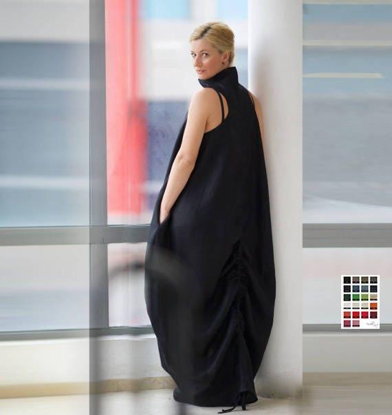 Linen Dress Trendy Plus Size Clothing Plus Size Maxi Dress