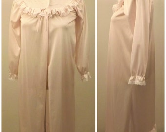 Vintage Pink Nightgown Plush Quilted Top Size XS by Secret Treasures