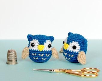 Plush owl stuffed animal, Amigurumi owl crochet, Owl gifts, Owl plush miniature crochet, Miniature animals, Kawaii animals, Tiny crochet