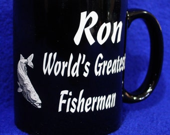 Boyfriend Gift ~ Gift For Husband ~ Groomsmen Gifts ~ Birthday Gift For Dad ~ Custom Coffee Mug ~ Gift For Fisherman ~ Wedding Party Gifts ~