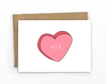 Funny Valentines Day Card | Love Card | Meh by Cypress Card Co.