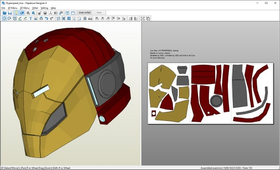 how to make a paper iron man helmet easy