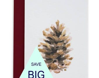 Tiny But Mighty Card, Christmas Cards, Greeting Cards, Watercolour, Canadiana, Pinecone, Northern Nature, Nature Lover Gift, Gift for Hiker