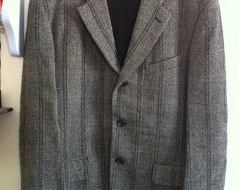 Comme des Garcons Homme Plus wool pants suit grey & beige tones / small