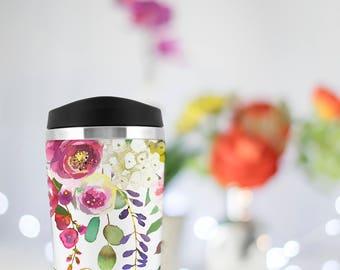 Personalized bridesmaid gift, custom travel mug, graduation gift, bridal party gift, thank you teacher gift, coffee mug, Bridesmaid proposal