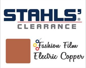 "15"" x 5 Yards - Copper - Stahls' Fashion-FILM Electric - Smooth  - Craft Roll - Iron-on  Heat Transfer Vinyl - HTV"