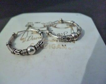 Sterling silver hoop earrings - 925 - 20 mm x 20 mm
