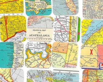 Road Map Etsy - Us atlas road map