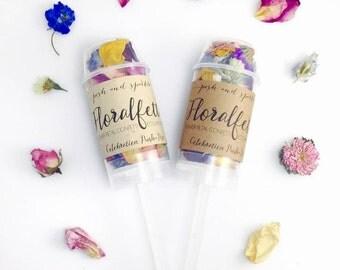 Floralfetti Confetti Push-Pops  - Eco-friendly Floral Confetti Popper - Biodegradable Dried Flower Petal Confetti