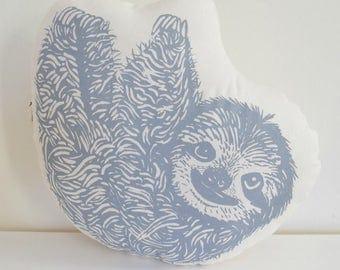 Sloth Plush - Sloth Pillow - Organic Cotton - Stuffed Animal Pillow - Throw Pillow - Large Cushion - Animal Pillows - Plushie - USA Made