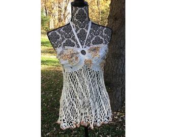 Mariposa Crochet Halter Top