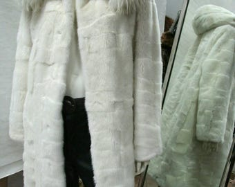 MEN'S New Real Natural Long MINK Fur COAT! Available in black for the moment.
