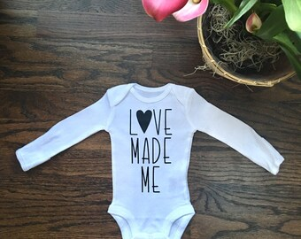 Love Made Me Baby Outfit