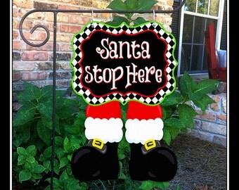 Christmas Garden Flag Christmas Yard Flag Christmas Tree Garden Flag Santa Yard Flag Santa Garden Flag Personalized Garden Flag Santa Claus