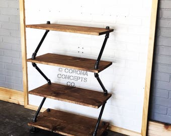 Industrial Shoe Rack - High Heel Shoe Shelf - Shoe Organizer - Book Shelf