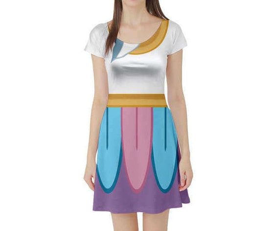 Chip Beauty and the Beast Inspired Short Sleeve Skater Dress