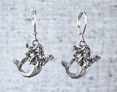 Mermaid Earrings with Ste...