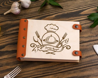 Blank Cook Book,  Recipe Book, Blank Recipe Book, Kitchen Book, Kitchen Recipe Organizer, Recipe Notebook, Personalized Cookbook, Cook Book