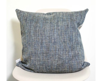 "20"" x 20"" Blue Tweed Throw Pillow Cover - COVER ONLY"