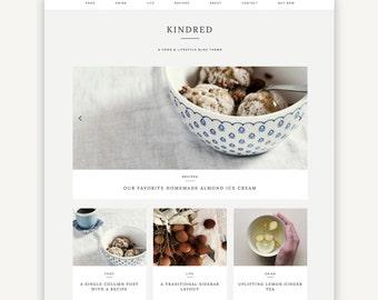 Responsive Wordpress Theme | Kindred | Food Blog Theme Design | Self-Hosted WordPress.org | Genesis Child Theme