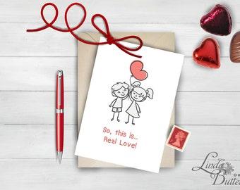 Valentine Card, Valentine PRINTABLE, Valentines day card, Valentines gift, Valentine decor, funny love card, funny valentine card, heart