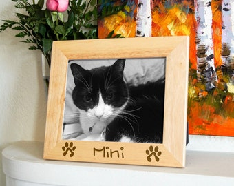 personalized engraved frame custom photo frame custom pets frame engraved frames for cats cats lovers frame