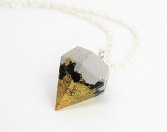 Necklace concrete diamond * magic touched * no 14 - unique - gift -.