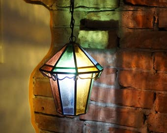stained glass lamp pendant lamp shade pendant chandelier hanging light glass lampshade colorful stained glass