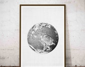 Earth Print, Earth Photo, Planet Print, Earth Wall Art, Instant Download, Earth Printable Art, Planet Wall Art, Planet Earth Art, Earth