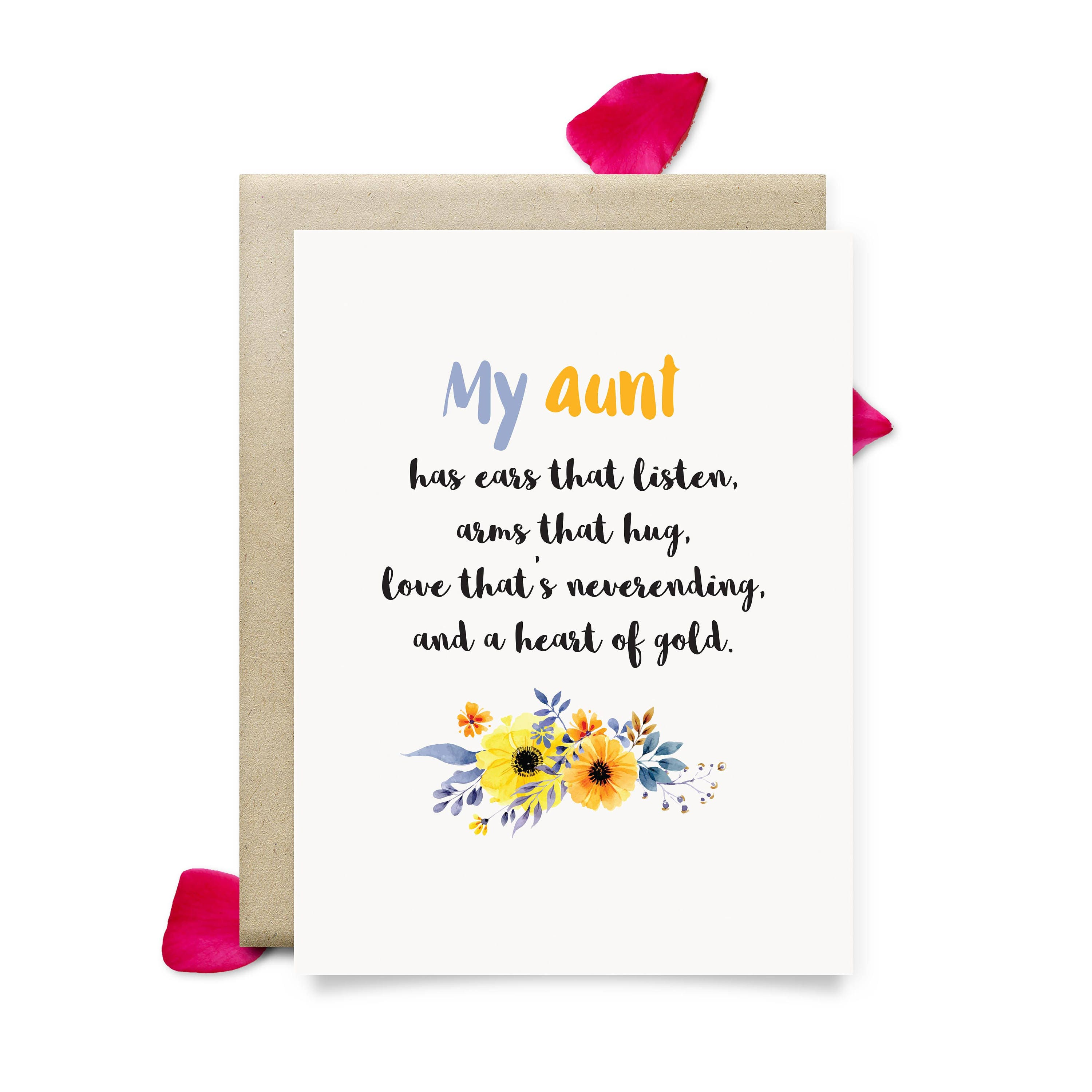 aunt birthday card cute mothers day t for aunt printable