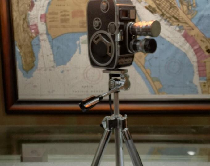 Lighting lamps . Palliard Bolex movie camera lamp. Upcycled lamp. Vintage cameras