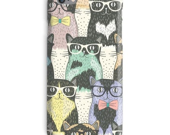 hipster iphone case, cats iphone case, glasses iphone 6 case, hipster iphone 6 case, cats iphone 6s case, kittens iphone case