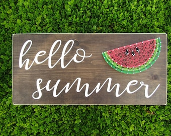 hello summer watermelon String Art *Made-to-Order*