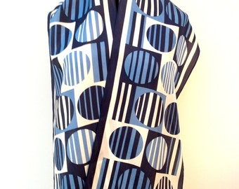 1960s silk scarf 1930s geometric vintage Art Deco
