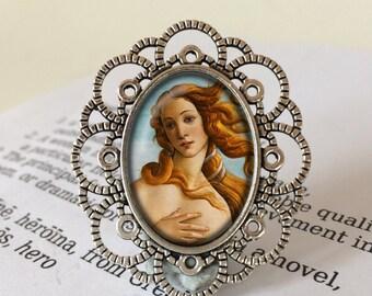 The Birth of Venus Brooch - Botticelli Brooch, Venus Brooch, Nascita di Venere, Renaissance Jewelry, Medici Gift, Sandro Botticelli Brooch