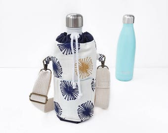 Swell Water Bottle Sling with Adjustable Strap, Dog Walking Bag, Insulated Bottle Carrier Shoulder Strap, Swell Bottle Bag, Bottle Holder