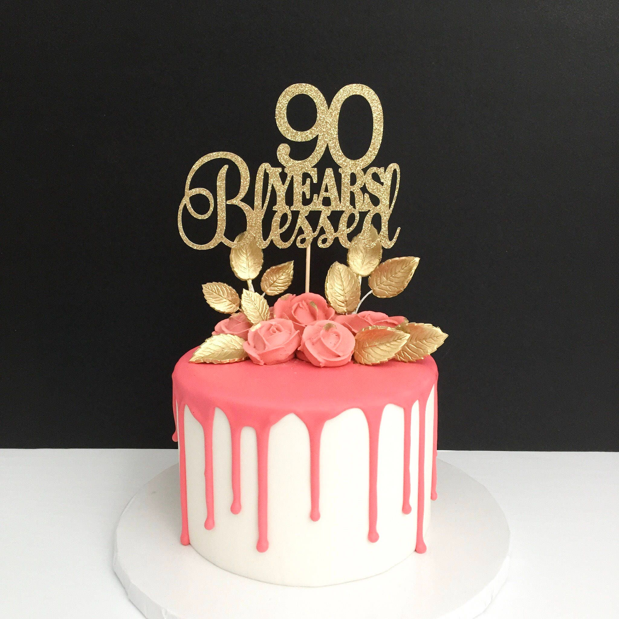 Any Years Blessed Cake Topper 90th Birthday Cake Topper