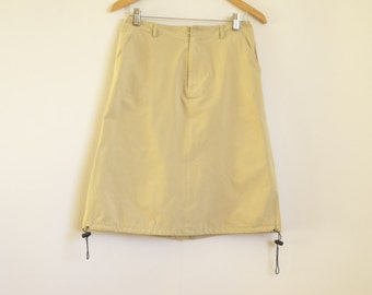 Women's Beige Skirts Women' s Pencil Skirt With Lining  Knee Length Skirt Size:M