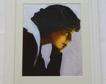 "Portrait of Marguerite Snow [12""x15""] Matted & Framed Pop Art Print"