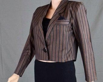 Womens Mid Blazer Jacket - Classic Kenrich Womens Jacket - Crop Blazer Jacket