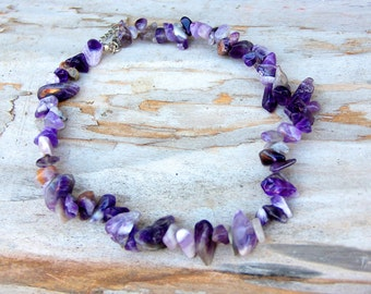 Gemstone Jewelry birthstone Jewelry amethyst Jewelry Gemstone necklace amethyst necklace February birthstone necklace Boho amethyst stone