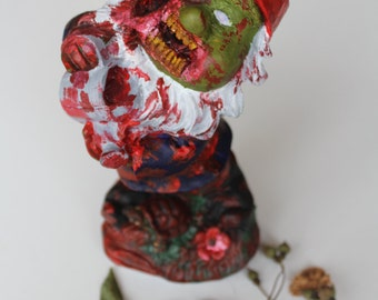 Zombie Gnome // Custom garden gnome // Garden gnome statue // New home gift // Housewarming gift