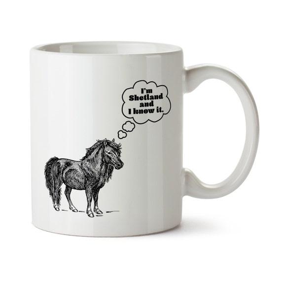 Shetland Pony Mug / Horse Coffee Cup / Horse Lover / Gift for Horse Lover / Horse Kitchen / Ceramic Horse Mug / Miniature Horse / Funny