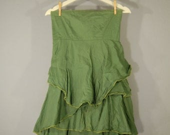 Second hand designer dress S / M able dress dress layer green Prachtvibe sporty